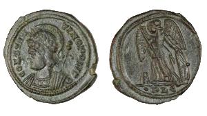 Coins Found in Roman Treasure Cache in East Devon, England