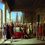 painting by Ramon de Elorriaga, The Inauguration of George Washington.