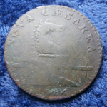 1786 New Jersey (Nova Caesarea in Latin) copper