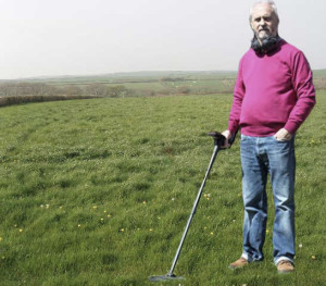 Phil Kirk with his XP DEUS metal detector in England.