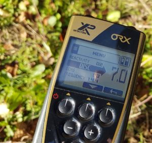 The ORX Metal Detector LCD Display Remote Menu features preset and custom programs.