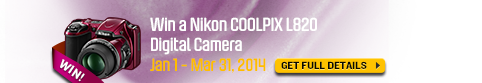 Win a Nikon COOLPIX L820 Digital Camera