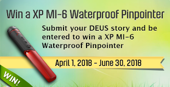 Submit your XP story between April 1 - June 30 and be entered to win a XP MI-6 Waterproof Pinpointer